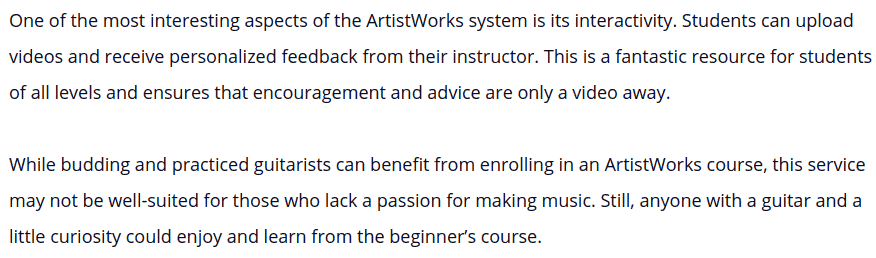 ArtistWorks Review 02