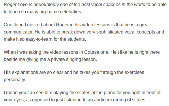 Roger Love Singing Academy Review 02